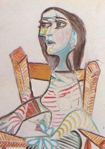 Pablo Picasso Portrait Of A Woman 1938 Rare Painting Postcard