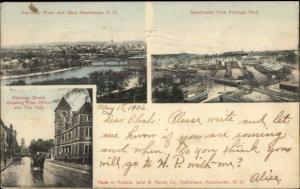 Manchester NH Multi-View c1905 Postcard