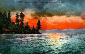 Nevada Sunset On Lake Tahoe From Glenbrook