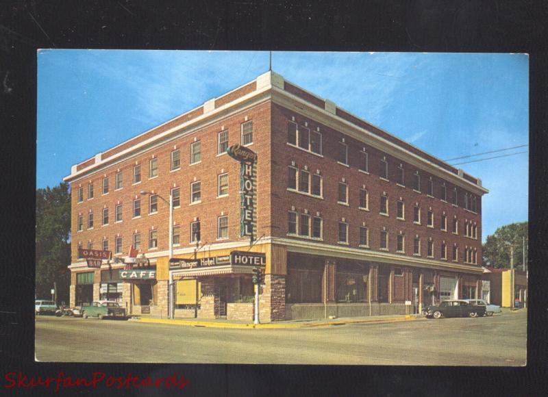 Lusk Wyoming Ranger Hotel Restaurant Old Cars Advertising Postcard
