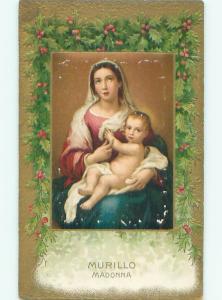 Pre-Linen Christmas Nativity MARY HOLDING BABY JESUS AC4464