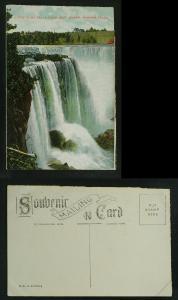Horseshoe Falls from Goat island  c 1905-1910  V crease flt