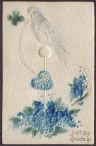 Birthday Greetings,Bird,Flowers Postcard