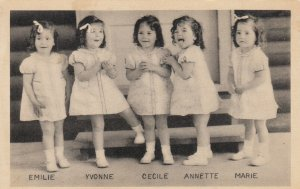 Dionne Quintuplets (Yvonne, Marie, Cecile, Annette, Emilie) ,Callander, 1930s #5