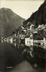 austria, HALLSTATT, Oberösterreich, Partial View (1930) RPPC Postcard