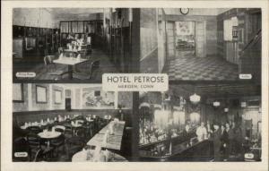 Meriden CT Hotel Petrose Multi-View Postcard