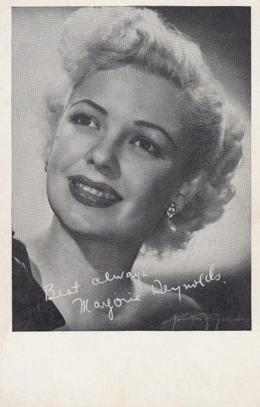 Marjorie Reynolds Rare Printed Signed Photo