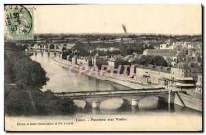 Old Postcard Laval Panorama With Viaduct