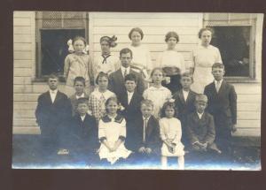 RPPC VALLEY SCHOOL PLEASANT HILL MISSOURI CLASS TEACHER REAL PHOTO POSTCARD