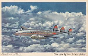 Trans World Airlines Constellation In Flight