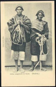 bolivia, Indios Cargadores de Sucre, Native Indian Males, Sugar Carriers (1899)