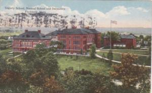 Massachusetts Fitchburg Edgarly School Normal School and Dormitory 1915 Curteich