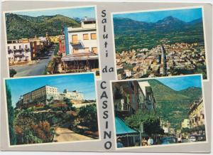 Saluti da Cassino, Italy, multi view, used Postcard