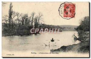 Val d & # 39Oise- Herblay- L & # 39Embouchure Petit Bras boat -Carte Old Post