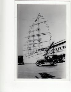 1929 Japan JAPANESE Ship Boat NIPPON-MARU Real Photo Postcard sized Photograph