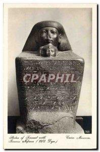 Old Postcard Egypt Egypt Cairo Museum Statue of Senmut with Princess Nefrua (...