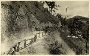 philippines, Luzon, BENGUET, Mountain Trail 28 km (1920s) RPPC Postcard