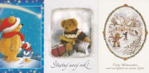 Czech Republic Toy Soviet Teddy Bear 3x Postcard s