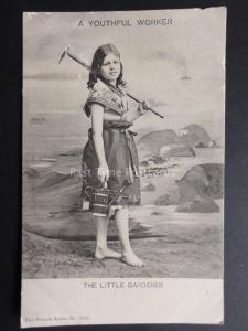 THE LITTLE GARDENER - A Youthful Worker c1905 Pub by The Wrench Series No.10595