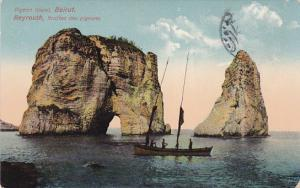 BEYROUTH (Beruit) , Lebanon , 1912 ; Grottes des Pigeons , Fishing boat
