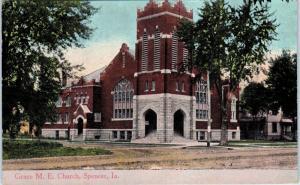 SPENCER, IA Iowa     GRACE   M E   CHURCH       1916    Postcard