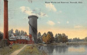 Norwalk Ohio~Water Works And Reservoir~Smoke Stack~Stand Pipe~1912 Postcard