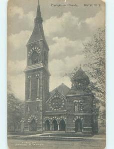 Unused Divided-Back CHURCH SCENE Bath New York NY L4981