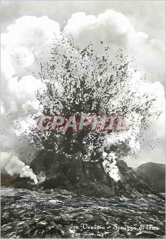 Postcard Modern Vesuvius Volcano Lava Burst