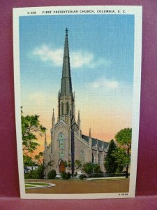 Postcard SC Columbia First Presbyterian Church