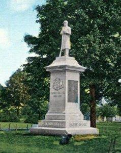 New Haven Connecticut Postcard 1910 Civil War Soldiers Monument Bay View Park MS
