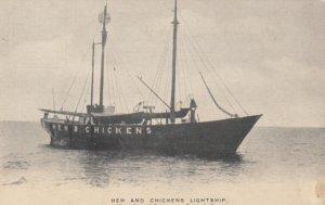 Hens & Chickens LIGHTSHIP , BUZZARDS BAY , Mass. , 1900-10s