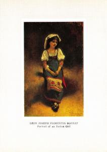 Art Postcard, Portrait of an Italian Girl by Leon Joseph Florentin Bonnat U83