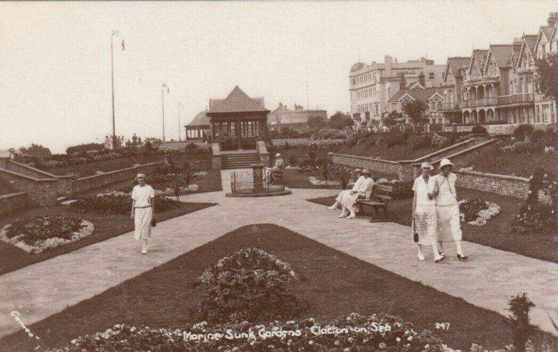 RP: CLACTON-ON-SEA , ESSEX , England , 1910-20s ; Marine Sunk Garden