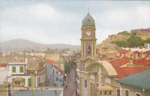 Gibraltar Roman Catholic Cathedral and Main Street