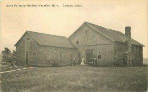 Canaan Connecticut Girls Friendly Society Vacation Barn 1931 Postcard 21-9455