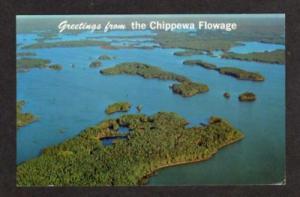 WI Lake Chippewa WINTER HAYWARD WISCONSIN Postcard PC