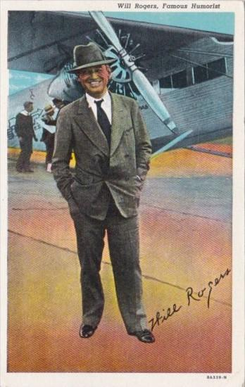 Will Rogers Famous Humourist Curteich