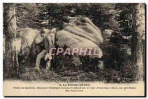 Postcard Old Stone Dolmen Megalith sacrifice of fees stone monument Druidic M...