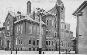 E74/ Sistersville West Virginia Postcard c1910 High School Building