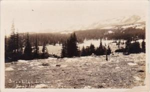 Brooklgn Lake Near Laramie Wyoming Real Photo