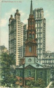 St. Paul's Chapel, New York City 1912 used Postcard