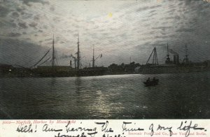 NORFOLK , Virginia, 1906 ; Harbor by Moonlight