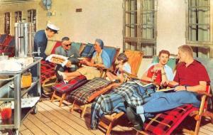 Home Lines SS Homeric Life on Deck Vintage Postcard J69507