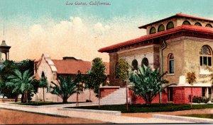 California Los Gatos Grammar School Episcopal Church and Carnegie Library