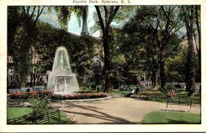 New York Syracuse Scene In Fayette Park