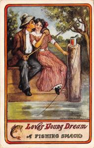 Antoinette Clark~Love's Young Dream~A Fishing Smack~Kiss on Dock~Can Worms~1912