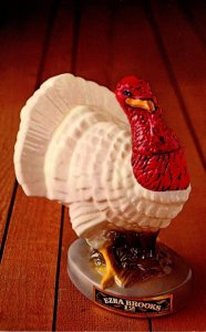 Advertising White Feather Turkey Decanter Ezra Brooks Distilling Company Fran...