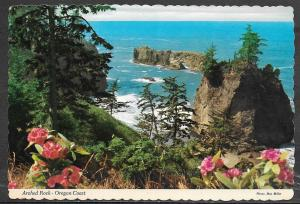 Oregon Coast, Arched Rock, writing on back