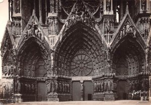 La Cathedrale, Les Portails de la fa¡ade Reims France Unused