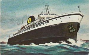 SS Spartan Lake Michigan Cruise Ship Milwaukee to Ludington MI Michigan pm 1973